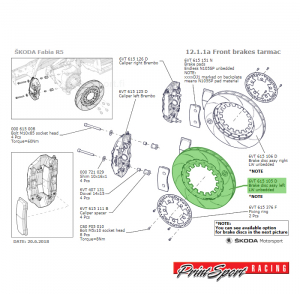 BRAKE DISC ASSY LEFT TARMAC UNBEDDED