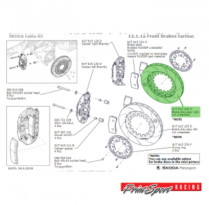BRAKE DISC ASSY RIGHT TARMAC UNBEDDED